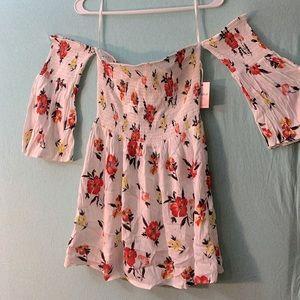 NWT Forever 21 Off the Shoulder Floral Dress